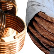 Copper wire of arc furnace